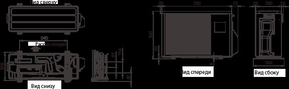 Улица Габаритные размеры : 540×790×290мм