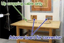 Up cropping cable only.Adopter board for connector.