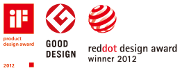 """product design award 2012"" ""GOOD DESIGN"" ""reddot design award winner 2012"""