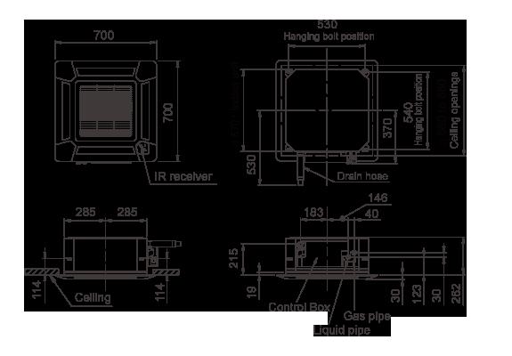 Vrf Systems Indoor Unit Cassette Auxb14galh Fujitsu