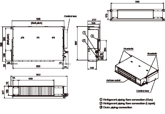 Vrf Systems Indoor Unit Duct Arxb14galh Fujitsu General