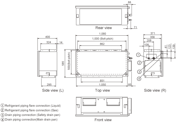 Vrf Systems Indoor Unit Duct Arxc60gath Fujitsu General