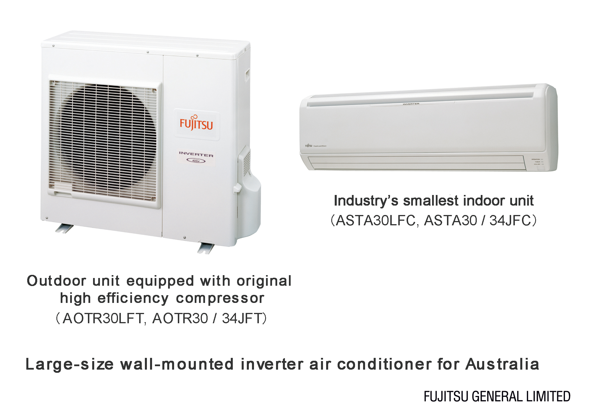 wall mounted inverter air conditioners for Australia FUJITSU GENERAL #7E5B4D