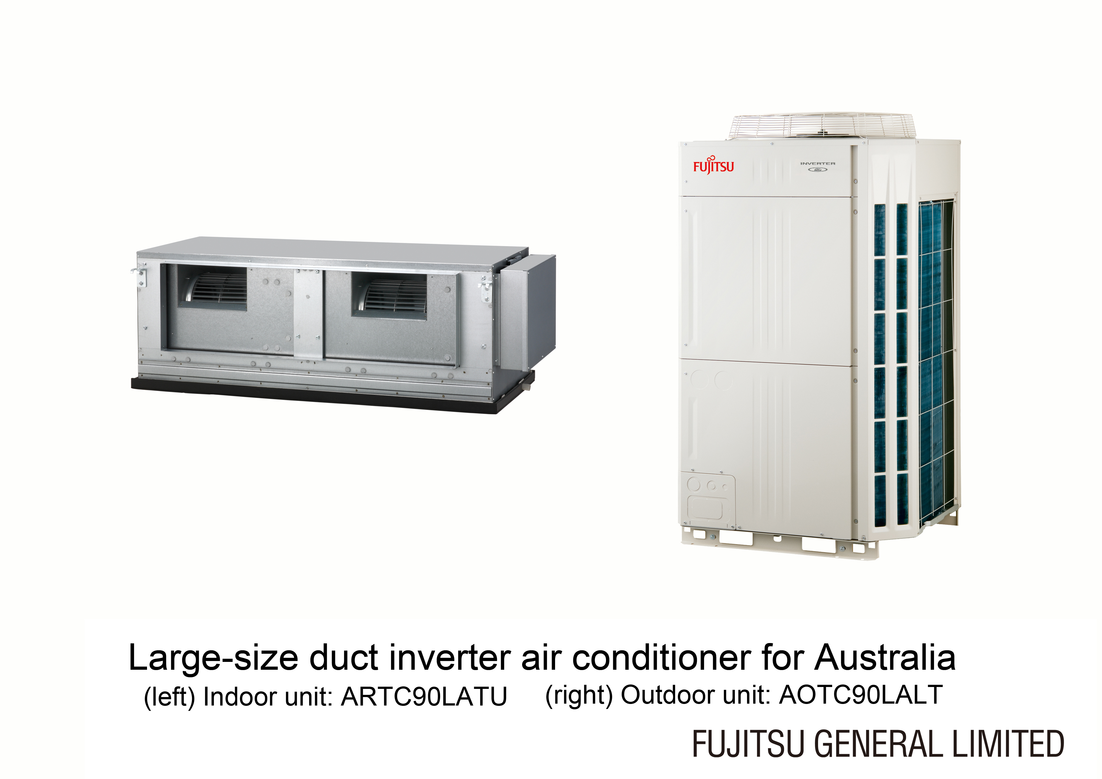 Large-size duct inverter air conditioner for Australia (ARTC90LATU /  AOTC90LALT) ...