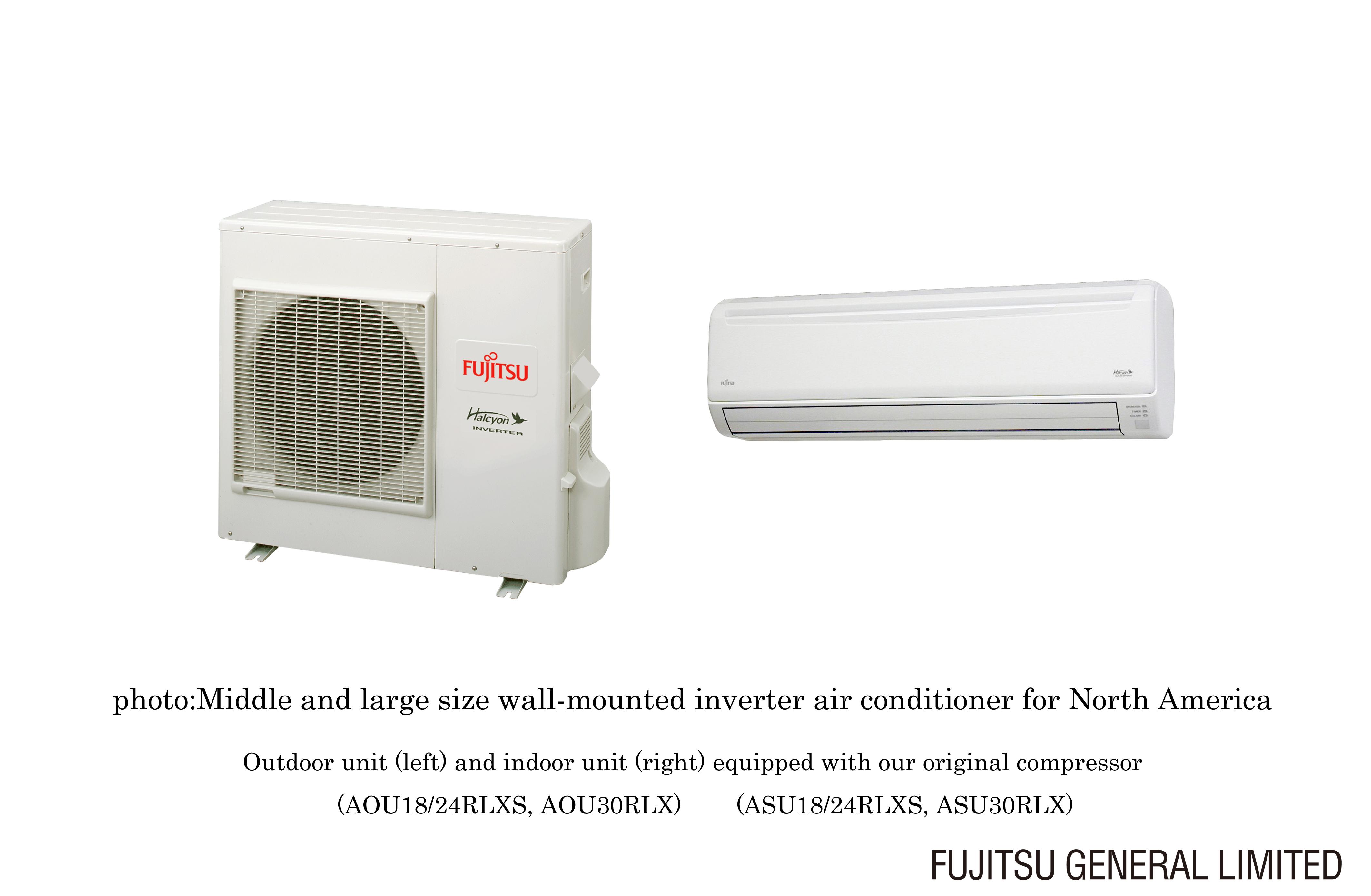 by enhanced lineup of energy saving air conditioners FUJITSU GENERAL #B42017