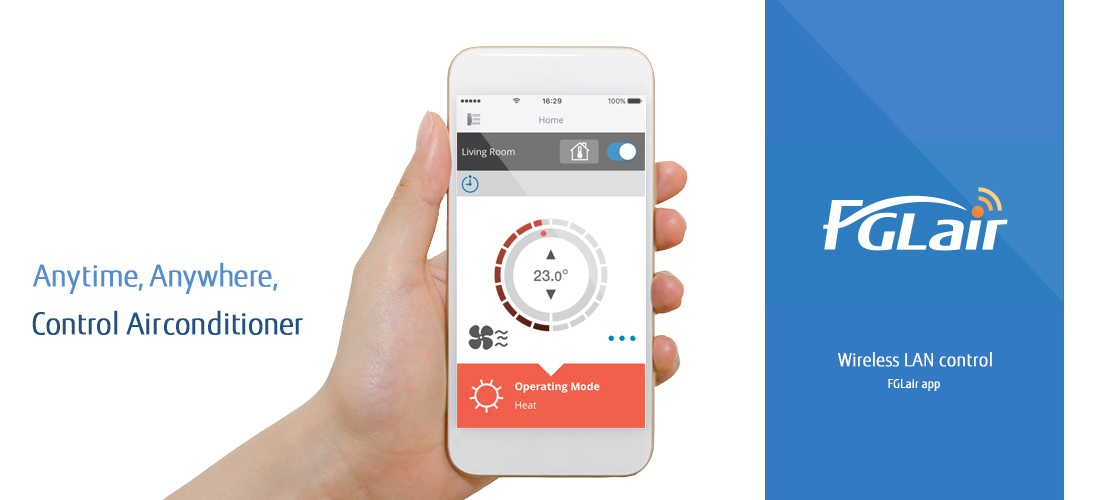 FGLair app: Wireless LAN control for air conditioner