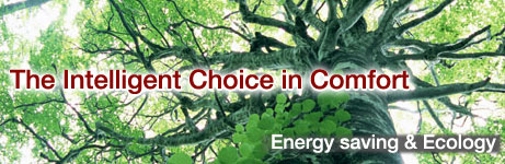The Intelligent Choice in Comfort. Energy saving & Ecology.