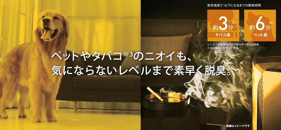 Запах домашних животных и табака, быстро дезодорирующий до уровня, который не желтеют.  Около 3 минут запах табака ※ 3.  Запахов домашних животных около 6 минут ※ 4.