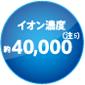 (Примечание 3) концентрация ионов около 40 000