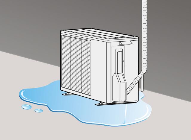 水 くる が て から 出 エアコン