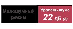 Малошумный режим,Уровень шума [22 дБ(A)]