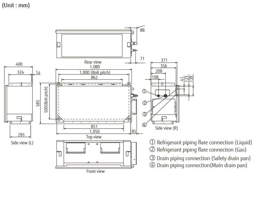 split systems  air conditioner    aryg45lhta