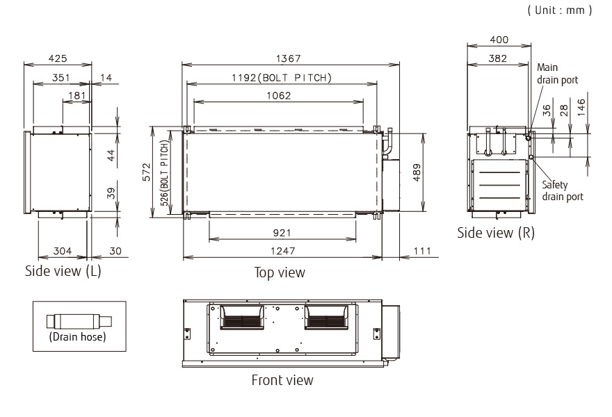 Outdoor Air Unit - Dimensions