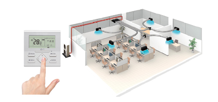Split Systems Air Conditioner Big Duct Fujitsu