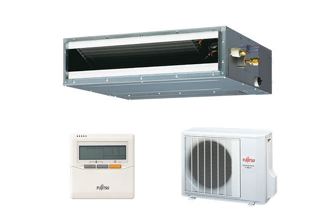 Duct Split Unit : Split systems air conditioner aryg lltb fujitsu