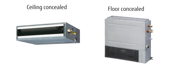 Duct Split Unit : Split systems air conditioner slim duct fujitsu