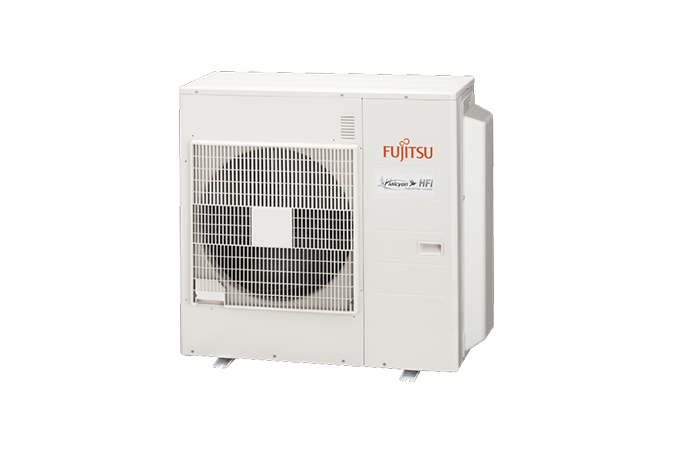 (SCRATCH & DENT) FUJITSU AOU36RLXFZH MULTI-HEAD OUTDOOR UNIT, 208-230/1/60, LOW TEMP HEATING * SERIAL # FXN010698 * MINOR FORK DAMAGE