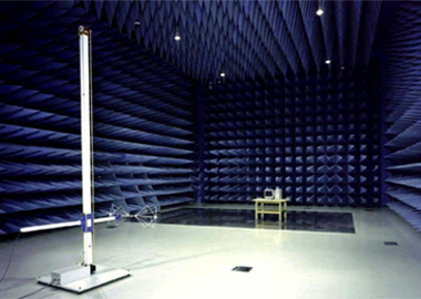 Photo of 10 meters in an anechoic chamber.