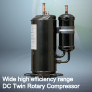 Wide high efficiency range DC Twin Rotary Compressor Photo